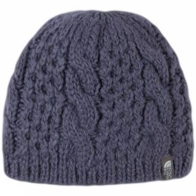 The North Face Women's Cable Minna Beanie Greystone Blue