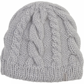 Ayacucho Womens Cable Beanie Light Grey