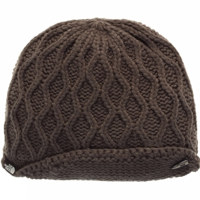 The North Face Womens Side Cable Beanie Graphite Grey