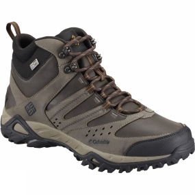 Columbia Mens Peakfreak XCRSN Leather Outdry Mid Boot Mud / Caramel