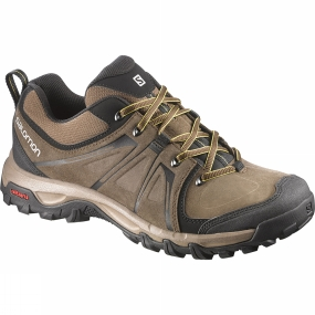 Salomon Mens Evasion Leather Shoe Absolute Brown-X/Burro/Ray