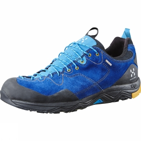 Haglofs Haglofs Mens Rocker Leather GT Shoe Hurricane Blue/Saffron