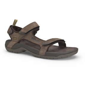 Teva Teva Mens Tanza Leather Sandal Brown