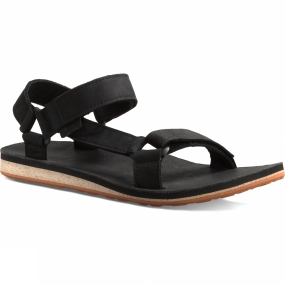 Teva Teva Mens Original Universal Premium Leather Sandal Black