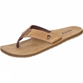 Reef Mens Leather Smoothy Sandal