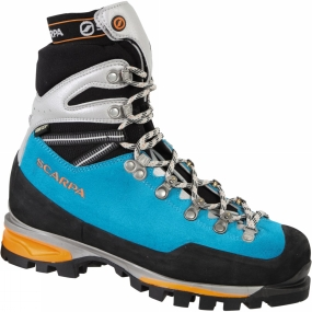 Scarpa A classic all mountain model, the Scarpa Mont Blanc Pro GTX Boot blends the highest technology from a generation of mountain boots inspired by Ueli Steck whilst retaining the robust features that deliver season after season.Based around the exceptional NAG last the rugged 3mm upper incorporates Scarpa