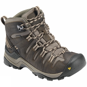 Keen Womens Gypsum Mid Boot Black Olive/Choclate Brown