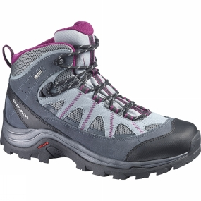 Salomon Salomon Womens Authentic LTR GTX Boot Pearl Grey / Grey Denim / Mystic Purple
