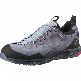 Haglofs Haglofs Womens Rocker Leather GT Shoe Granite / Volcanic Pink