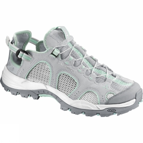 Salomon Salomon Womens Techamphibian 3 Shoe Light Onix / White / Lucite Green
