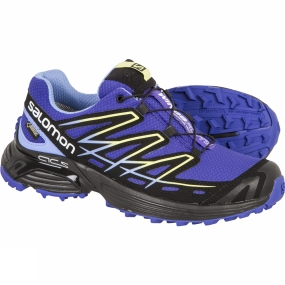 Salomon Salomon Womens Wings Flyte GTX Shoe Spectrum Blue/Black/Petunia Blue