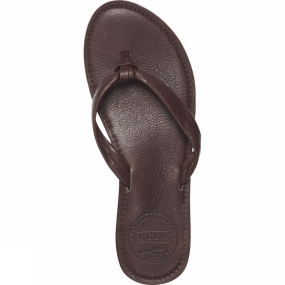 Reef Womens Creamy Leather Flip Flop