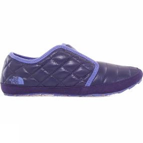 The North Face Womens ThermoBall Traction Mule II Shiny Astral Aura Blue / Blue Iris