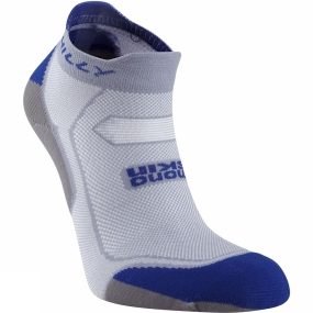 Hilly Hilly Womens Lite Cushion Socklet Grey / Royal Blue