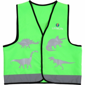 LittleLife Kids Reflective Safety Vest Dinosaur