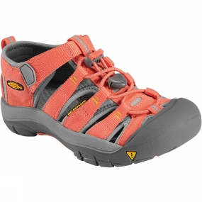 Keen Keen Newport H2 Youth Sandal Hot Coral/Yellow