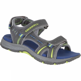 Merrell Youths Panther Sandal Grey/Blue