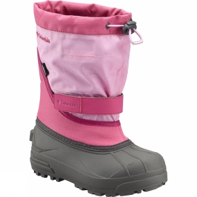 Columbia Youths Powderbug Plus II Boot Glamour / Orchid