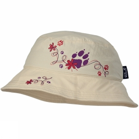 Jack Wolfskin Girls Supplex Hat White Sands