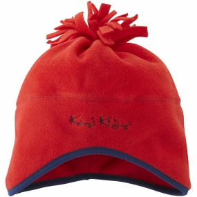 Kozi Kidz Micro Fleece Hat Red
