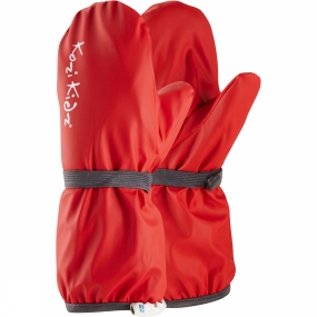 Kozi Kidz Kids Fleece Lined Rain Mitt Red