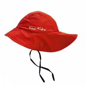Kozi Kidz Souwester Fleece Lined Hat Red