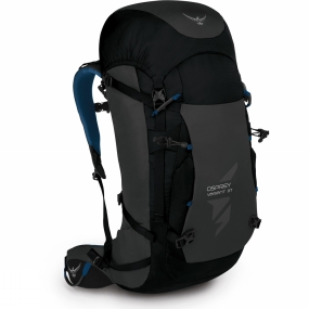 Osprey A true winter pack for exploration into deep snow, frozen waterfalls and ice-fractured mountains. Designed to support the weight and rigours of carrying your winter gear each Variant has an integrated peripheral frame with a molded backpanel. The contoured harness and removable hipbelt stabilises your load. The innovative front compression shield secures crampons, snow shovels, probes and wet ski touring skins. Side ski loops bridge the gap between climbing and ski mountaineering. The main entry to the Variant 37 is through a floating and removable top lid, which means you can overload your pack like a packhorse or remove the lid totally for greater head clearance and lighter weight. Lesser climbing packs have minimal weather protection and compression when in this mode, but not the Variant 37. Utilise the built-in FlapJacket™ that not only provides a weatherproof closure; it keeps your gear fully compressed. Our twin ice-tool holster accommodates any type of climbing axe and holds it securely between two layers of HDPE, protecting the pack and it