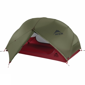 MSR The Hubba Hubba NX Tent from MSR is a lightweight, three season dome tent designed for fast and light backpacking adventures across the globe.Precision-engineered, this tent uses a clever hub pole design for optimum stability whilst maximizing useable internal space. Mainly freestanding the Hubba Hubba tent lets you enjoy the full backcountry experience, including time spent in the tent. Unique pole configuration helps to maximise the head and elbow room throughout the tent while the mesh canopy and adjustable, cross-ventilating flysheet offer optimal airflow to reduce the chance of condensation. On warm and dry occasions where the flysheet does not need to be used the mesh canopy offers unrestricted views, when the flysheet is in use and the rain is pouring there are rain gutters over the entrance zips to avoid you getting soaked on the way in. There are two entrances, each with a vestibule, which allows you the versatility of using one vestibule as just storage and the other as your way in and out or each having your own space for kit as well as getting in and out of the tent.Highly versatile you can also use just the flysheet of this tent for the ultra lightweight shelter when out exploring.Compatible Products: MSR Footprint Hubba Hubba NX