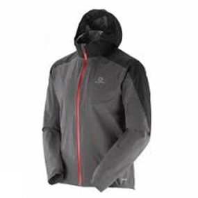 Salomon Salomon Mens Bonatti Jacket Forged Iron/Black