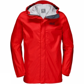 Jack Wolfskin Jack Wolfskin Mens Cloudburst Jacket Fiery Red