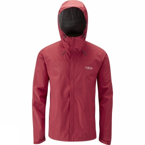 Snow and Rock Rab Mens Downpour Jacket Ricochet