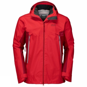 Jack Wolfskin Jack Wolfskin Mens Refugio Flex Jacket Peak Red