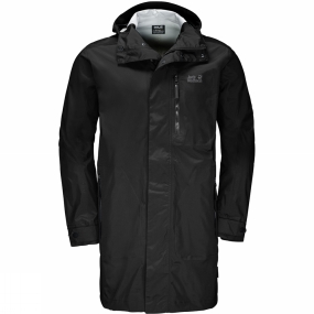Jack Wolfskin Jack Wolfskin Mens Crosstown Raincoat Black