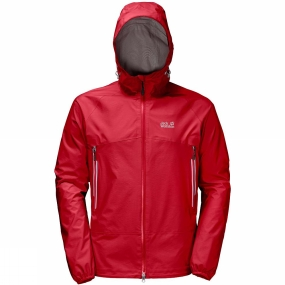 Jack Wolfskin Jack Wolfskin Mens Mountain Pass Jacket Ruby Red