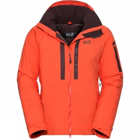 Jack Wolfskin Jack Wolfskin Mens Mount Logan Jacket Lava Orange