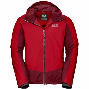 Jack Wolfskin Jack Wolfskin Mens Exolight Base Jacket Ruby Red