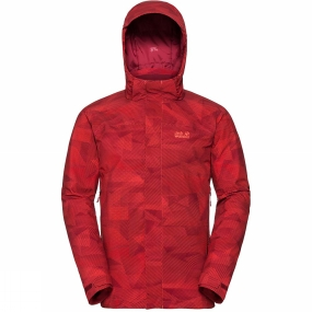Jack Wolfskin Jack Wolfskin Mens Mountain Edge Jacket Lava Orange All Over