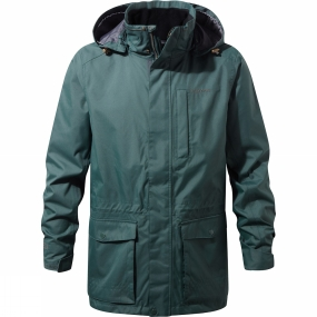Craghoppers Craghoppers Mens Kiwi Long Interactive II Jacket Asteroid Green
