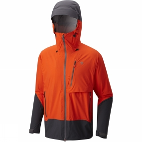 Mountain Hardwear Mountain Hardwear Mens Superforma Jacket State Orange/Shark