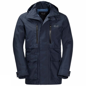 Jack Wolfskin Jack Wolfskin Mens Bridgeport Jacket Night Blue