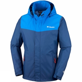 Columbia Columbia Mens Trestle Trail Hooded Jacket Carbon/Super Blue