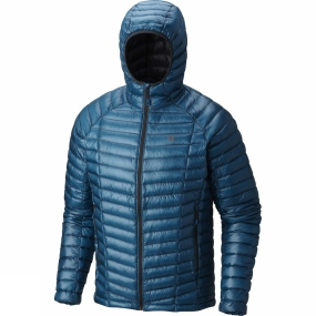 Mountain Hardwear Mountain Hardwear Men's Ghost Whisperer Hooded Down Jacket Crevasse