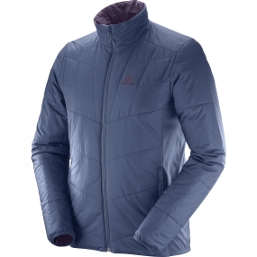 Men's Salomon Men's Drifter Mid Jacket (Reversible) Dress Blue/Meverick