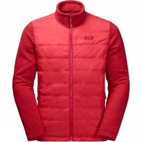 Jack Wolfskin Jack Wolfskin Mens Caribou Crossing Track Jacket Ruby Red