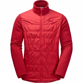 Jack Wolfskin Jack Wolfskin Mens Caribou Crossing Altis Jacket Ruby Red