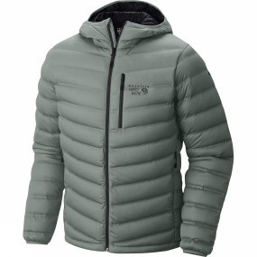 Mountain Hardwear Mountain Hardwear Men's StretchDown Hooded Jacket Thunderhead Grey