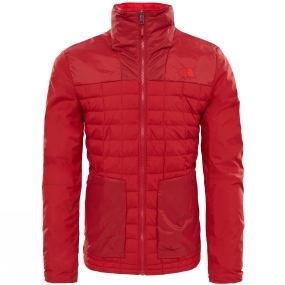The North Face The North Face Mens Thermoball Full Zip Jacket Cardinal Red