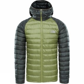 The North Face The North Face Mens Trevail Down Hoodie Iguana Green/ Grape Leaf