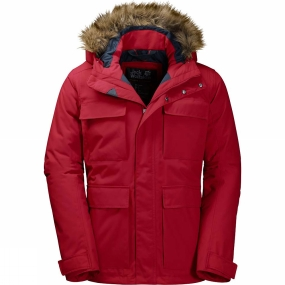 Jack Wolfskin Jack Wolfskin Mens Point Barrow Jacket Indian Red