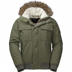Jack Wolfskin Jack Wolfskin Mens Brockton Point Jacket Woodland Green